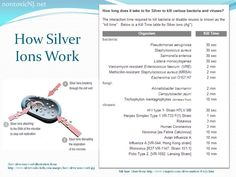 How Silver Ions Work and Kill Chart. Questions? Concerns? eMail me! help@nontoxicNJ.net http://tinyurl.com/nontoxicNJshop