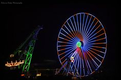 Nighttime at Morey's Piers. Wildwood, NJ