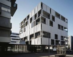 Exterior curtain as solar shading in Zurich by AGPS