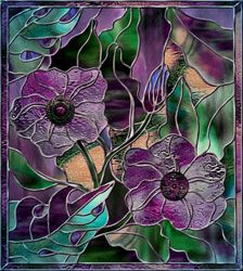 Stained Glass Violets
