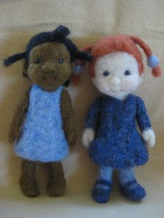 """4"""" needle felted doll friends (Barb Soet)"""