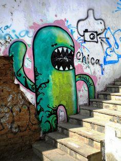 SOUTH AMERICAN URBAN STREET ART  COLUMBIA PERU GRAFFITI A0 SIZE CANVAS PRINT
