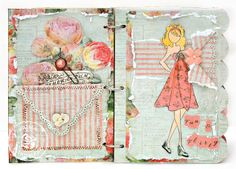 Scrap Escape: Prima Julie Nutting Doll Stamps and Chipboard Book - Your Many Wonderful Moods