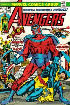 """It's easy for Magneto to destroy the X-Men when they're outside their comic! Written by Steve Englehart (the Beast is MIA because Stevo's writing Henry Phillip McCoy in """"Amazing Adventures""""). Colored by Glynis Wein (even then she was an X-girl)."""