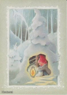 Kaarina Toivanen (my collection) - pioni pionia - Picasa Web Albums Christmas Clipart, Vintage Christmas Cards, Christmas Ornaments, Christmas 2017, Winter Illustration, Illustration Art, Creation Photo, Elves And Fairies, Funny Drawings