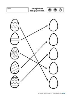 6 sheets discovering the world around the egg for kindergarten. Easter Activities For Kids, Math For Kids, Easter Crafts For Kids, Preschool Activities, Easter Worksheets, Kindergarten Worksheets, Teaching Kids, Kids Learning, Easter Colouring