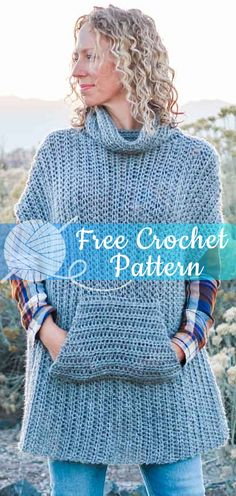Greyscale Poncho [CROCHET FREE PATTERNS] - All About Crochet