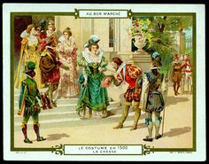 All sizes | French Tradecard - Costumes of 1500 | Flickr - Photo Sharing!