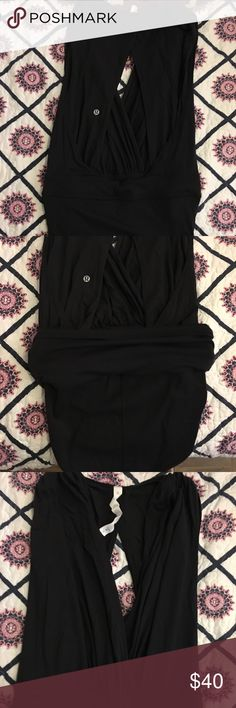 Lululemon Tonight's the night leotard Black. Size 8. Used once. Super cute to wear with some jeans for a night on the town! lululemon athletica Pants Jumpsuits & Rompers