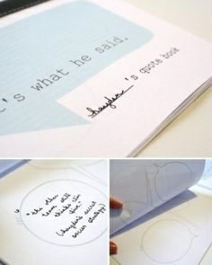 Make a kids' quote book to organize and save the funny things they say ... free tutorial and printable templates by deanne.higginscraig
