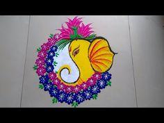 GANESHJI ki attractive rangoli design made by Jyoti Raut Rangoli