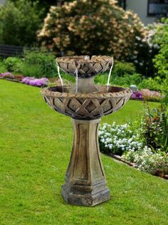 "31"" Two Tier Pedestal Fountain from Alpine"
