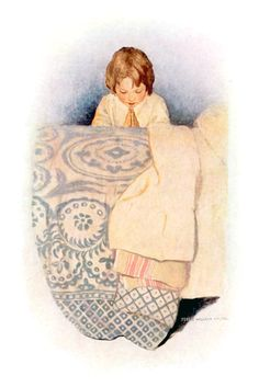 "A prayer. Illustration by Jessie Willcox Smith from ""Dream Blocks"" (1908)"