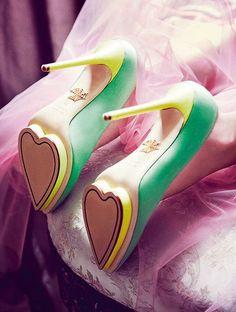 #shoes #heels #fashion Green Fashion Sexy High Heels for Elf Costumes saint Patricks Day