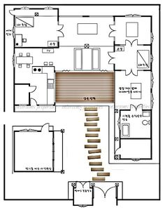 Traditional japanese home floor plan cool japanese house for Fusion kitchen plano