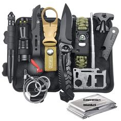 Gifts for Men Dad Husband, Survival Kit 12 in Fishing Hunting Birthday Gifts Ideas for Him Boyfriend Teen. Title: Gifts for Men Dad Husband, Survival Kit 12 in Fishing Hunting Birthday Gifts Survival First Aid Kit, Emergency Survival Kit, Survival Tools, Wilderness Survival, Camping Survival, Outdoor Survival, Survival Prepping, Survival Knife, Survival Quotes