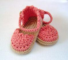 Baby Espadrille Sandals CROCHET PATTERN instant by matildasmeadow, $4.99