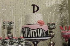I love this!! Definitely want this for my baby shower if I ever have a girl! It has all my favorite things! Bling, pink, zebra, and tufted! WILD yet Classy!