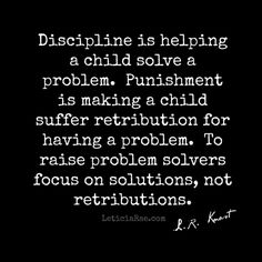Focus on solutions, not retributions.