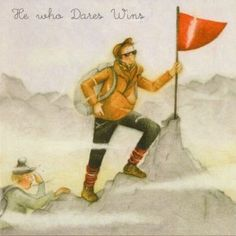 He Who Dares Wins Male Berni Parker Designs Card. £2.75 - FREE Postage!