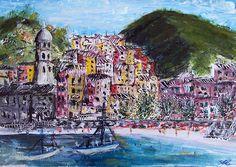 Vernazza, Acrylic on Canvas panel, 25 x 35