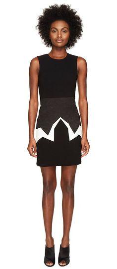 Neil Barrett Minimal Cowboy Mix Fabrics (Black/White) Women's Dress - Neil Barrett, Minimal Cowboy Mix Fabrics, PNVE327C E091C, Apparel Top Dress, Dress, Top, Apparel, Clothes Clothing, Gift, - Fashion Ideas To Inspire