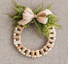Idee zum Basteln mit Korken und Perlen