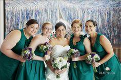 Emerald Green Bridesmaid Dresses   Independent Designer: Real Wedding: Emerald Green Bridesmaid Dresses