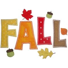 Fall    Planet Applique - TRY SATIN STITCH WITH STRAIGHT BASTING STITCH OVER IT IN CONTRASTING COLOR