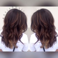 Deep Chocolate Balayage Highlights #Balayage #Highlights #Brunette