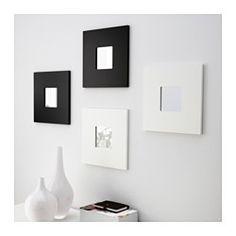 MALMA Espejo, negro - 26x26 cm - IKEA