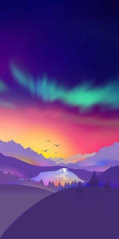 Background Designs Landscape Wallpaper, Scenery Wallpaper, Landscape Art, Wallpaper Backgrounds, Wallpaper Art, Handy Wallpaper, 4k Wallpaper For Mobile, Galaxy Wallpaper, Purple Wallpaper