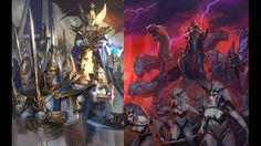 Dark Elves and High Elves Co-op mod. High Elf, Dark Elf, Elves, War, Painting, Painting Art, Paintings, Painted Canvas, Drawings