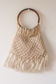 macrame handbags | Sale 10% off Vintage Macrame Handbag Purse from the 1970s from France ...