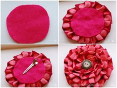 DIY fabric flower using your ruffler foot. http://www.craftaholicsanonymous.net/valentines-day-wreath.  Of course. These flowers are good for home dec too. Or perhaps as a gift box topper?