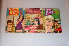 Romance Comics Lot of 3 Falling In Love Vintage by nodemo Romance Comics, Newborn Twins, Etsy Vintage, My Little Pony, Falling In Love, 1960s, Toys, Photos, Clothes