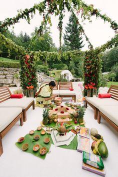 Mandap for Indian Wedding Salzburg Fuschl planned by: http://www.weddingsalzburg.com/  Photographer: Claire Morgan