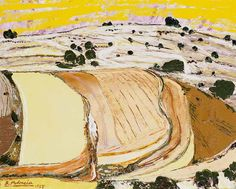 Benjamín Palencia Vincent Van Gogh, Spanish, Abstract, Artwork, Landscapes, Paintings, Brown, Gold, Contemporary Paintings