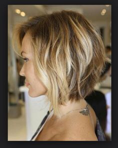 Ombré/ dirty blond bob... So cute :)