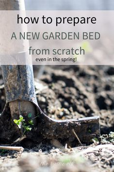 Last spring, we didn't have any land cleared out on our new homestead for a garden. However, we got a wonderful organic garden started straight in the ground in the spring! With these tips you can start your own organic garden bed this spring without having to use raised beds or container gardening! #vegetablegardening #organicgardening #gardening