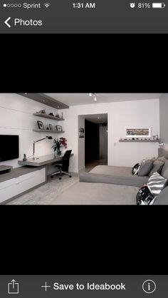 Tv unit with desk