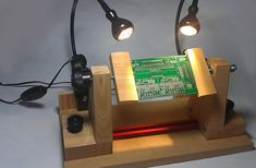PCB Holder with Lamps