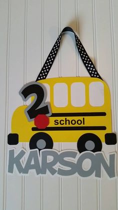Teacher gift  Check out this item in my Etsy shop https://www.etsy.com/listing/244148789/yellow-school-bus-party-sign-school-bus