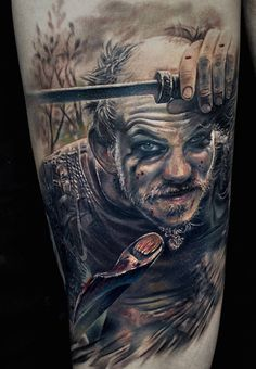 Floki, impressive personality - character from movie Vikings. Artist @marispavlo  #Floki #GustafSkarsgard #Vikings #tvseries #movie #portrait #actor #character #scandinavian #kattegat #boatbuilder #realistictattoo #realism #tattoo #manwithtattoos #riga #tattooinriga #tattooed #art #tattooink  #ink #inked #skin #tattooartist #tattoofrequency #share #like #follow