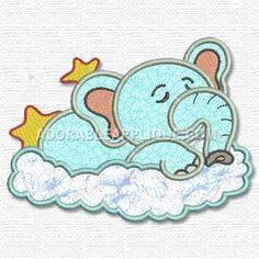 Elephant on a cloud! Make cloud red for Papa!!