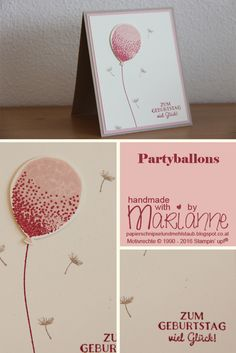 Partyballons, Balloon Celebration, Stampin' up, Kirschblüte, Rosenrot