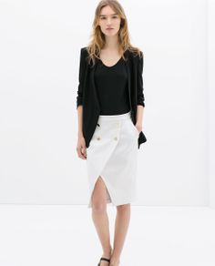 ZARA - WOMAN - CROSSOVER SKIRT WITH BUTTONS || love love love skirts with pockets