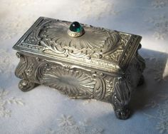 Cabin Or House Shape Casket Confident Charming Antique Carved Black Forest Jewelry Box