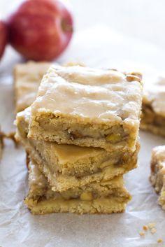 Maple Glazed Apple Blondies