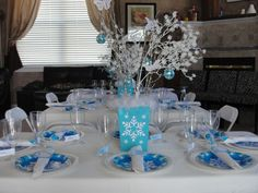 "Photo 1 of 19: Winter Wonderland Snowflake Princess Party / Birthday ""Finley's 6th Birthday "" 